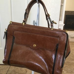 Anthropologie Oryany Doctors brown leather bag
